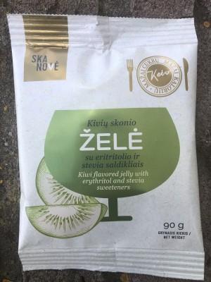 Kivių skonio želė su eritritolioir stevia saldikliais