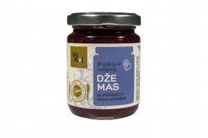 Braškių ir mėlynių džemas su eritritolio ir stevia saldikliais  160 g