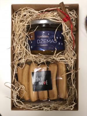 Rinkinys KALĖDOMS 2 (Apelsinų džemas su cinamonu, duonos lazdelės)