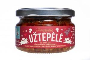 Kalėdinė Pievagrybių užtepėlė su saulėje džiovintais pomidorais
