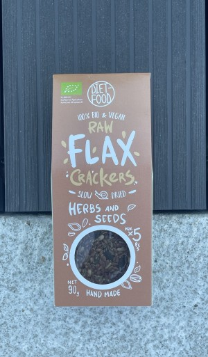 BIO flax crackers with herbs and seeds