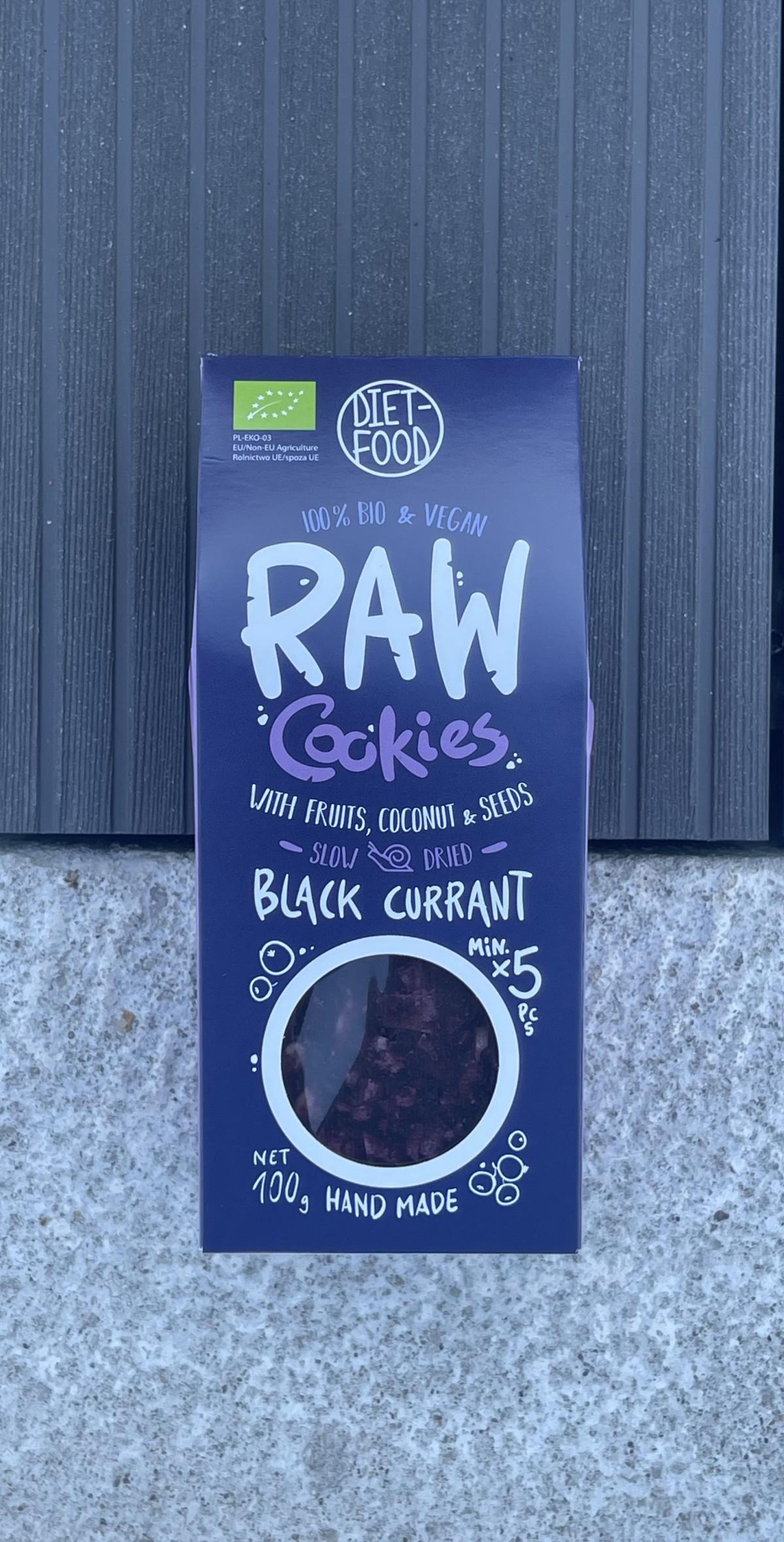 BIO juodųjų serbentų sausainiai