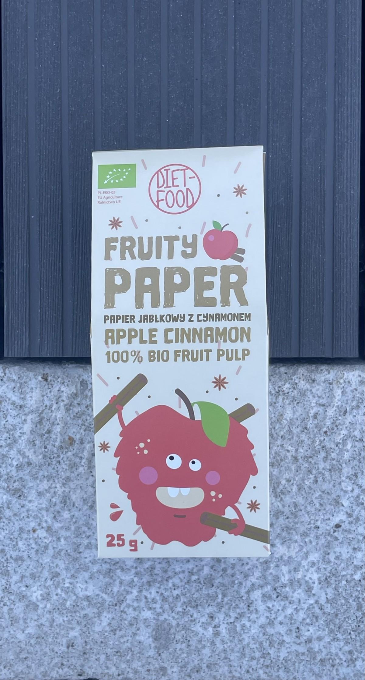 BIO vaisiniai lakšteliai 100% Obuolių minkštymas su cinamonu