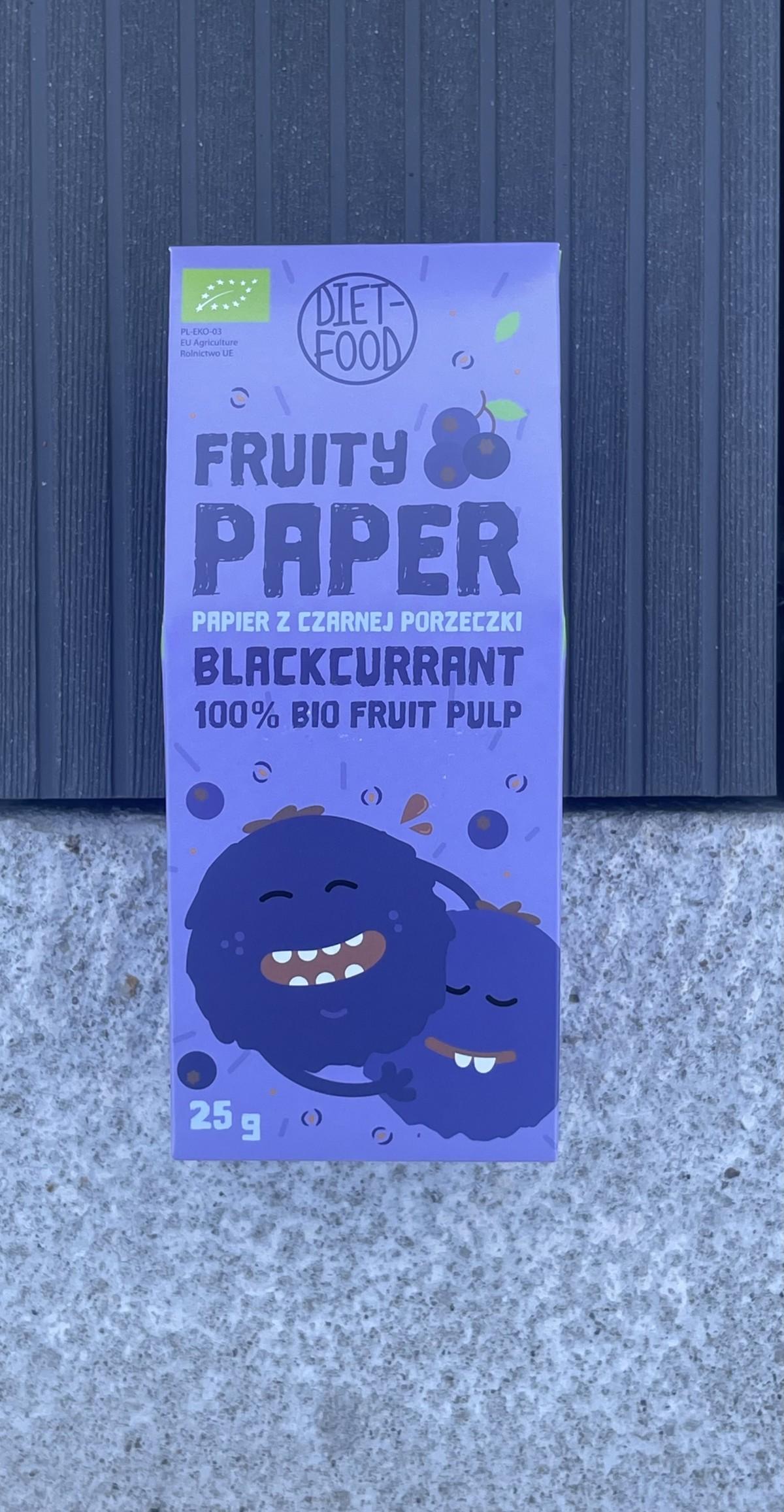 BIO vaisiniai lakšteliai 100 % ekologiškų juodųjų serbentų minkštymas