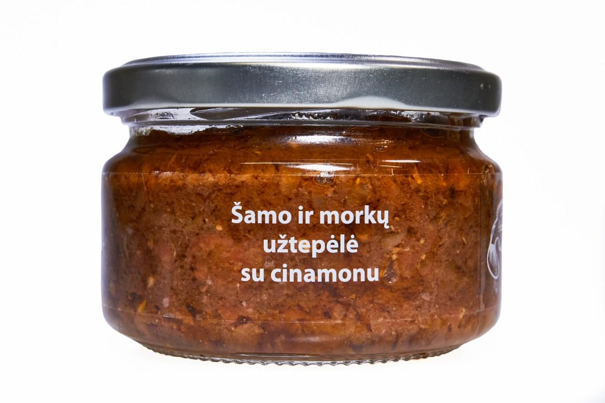 Šamo ir morkų užtepėlė su cinamonu, 190g